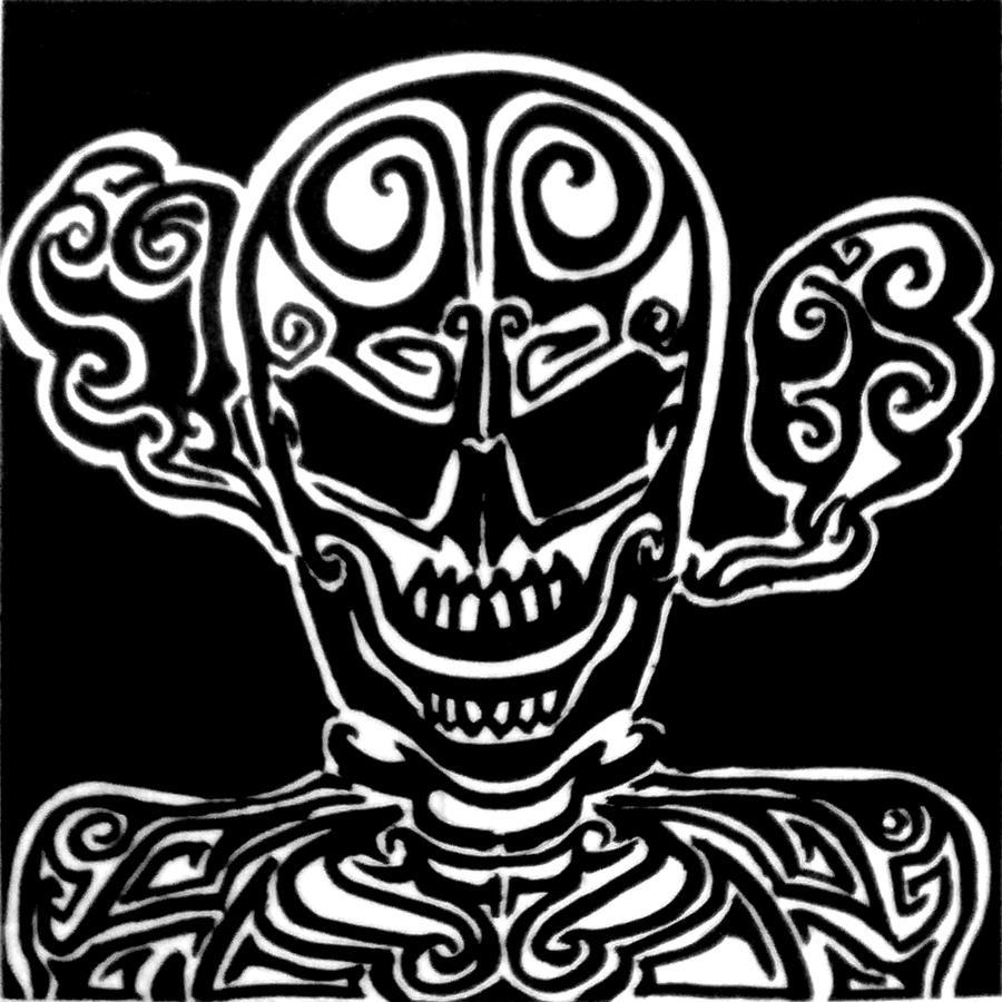 Tribal Death Tattoo: Tribal Tattoo-Death By MangoSapien On DeviantART