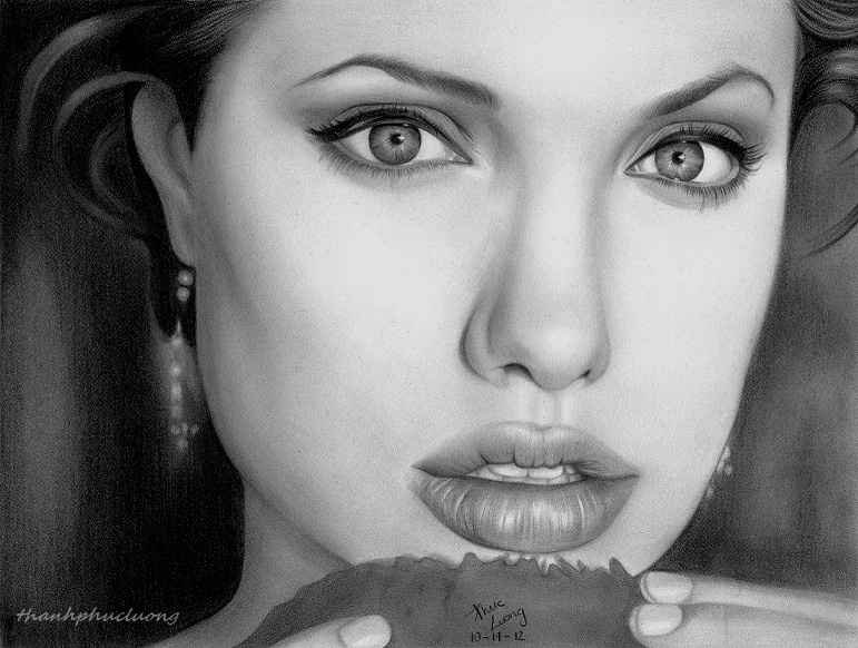 Angelina Jolie II by thanhphucluong