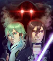 Sword Art Online - Sinon and Kirito by R0DV14S04M3N