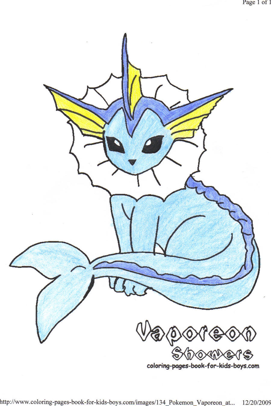 Vaporeon Pokemon Coloring Pages