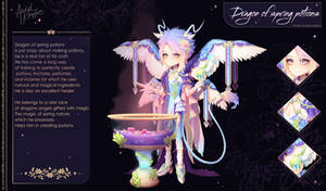 Dragon of spring potions | Auction Adopt (CLOSED)
