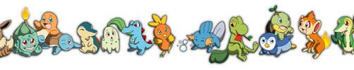 Starter Pokemon by ChloePawprintz