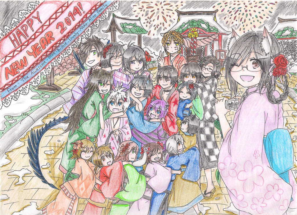 New Year's Family Picture by AkariKyoku