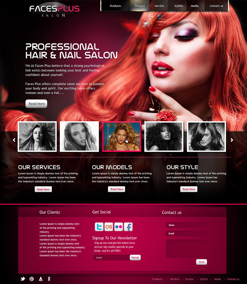 Hair salon website design by yuval10203 on DeviantArt