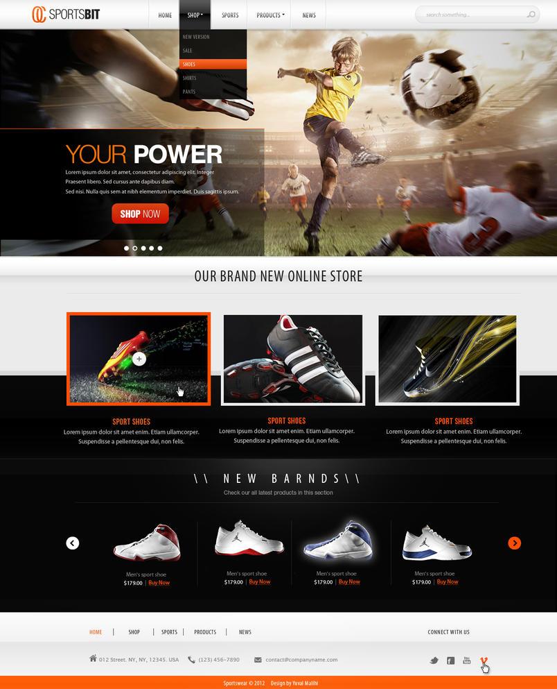 Sports website design for sale by yuval10203 on deviantart for Best websites for sales
