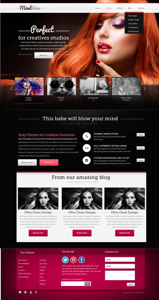 BlackSwan Creative Theme by yuval10203