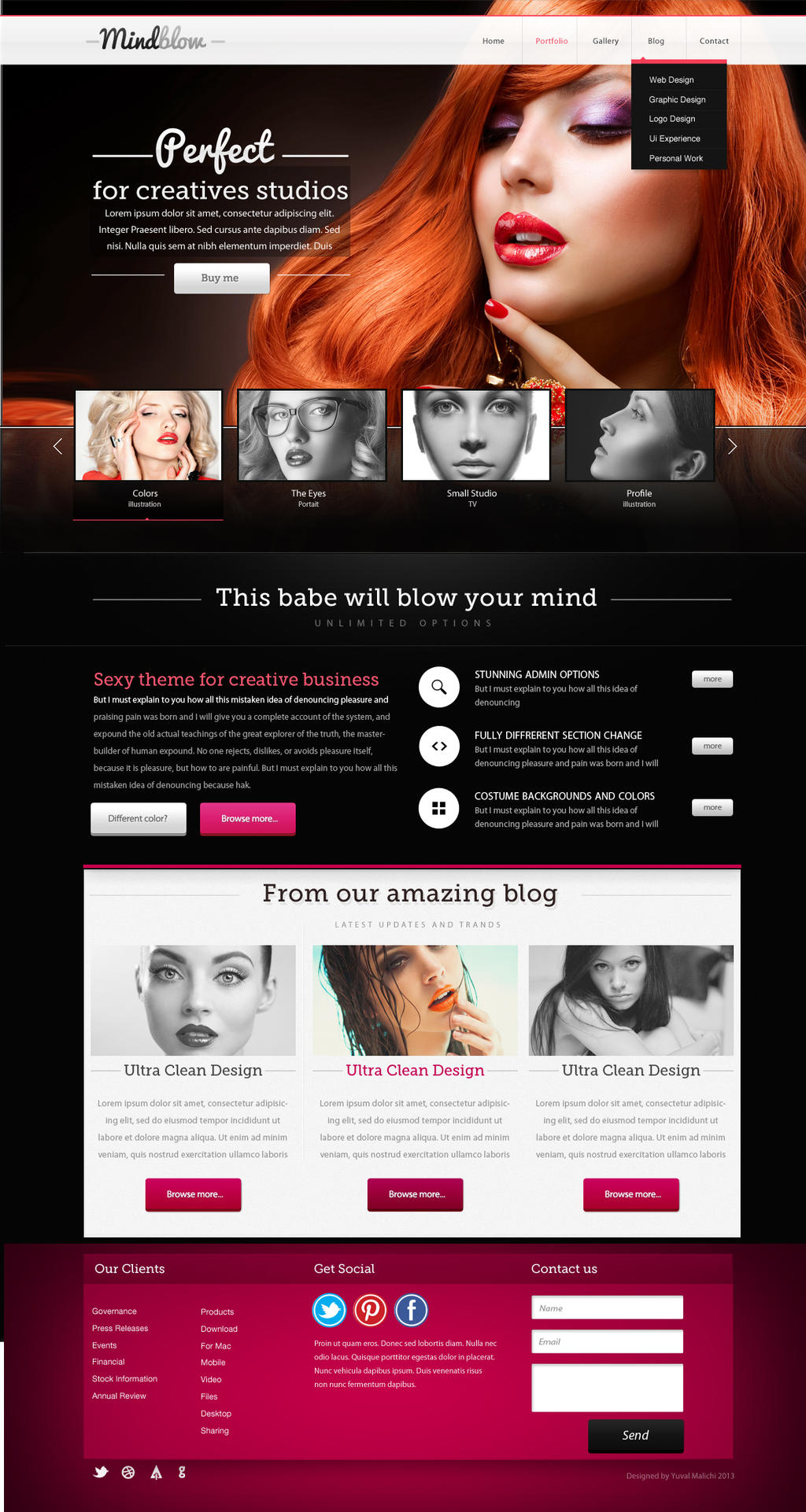 Mindblow Fashion Website Design For Sale By Yuval10203
