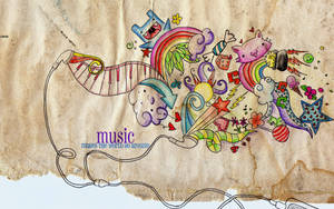 Music Wallpaper by artistiquegirl