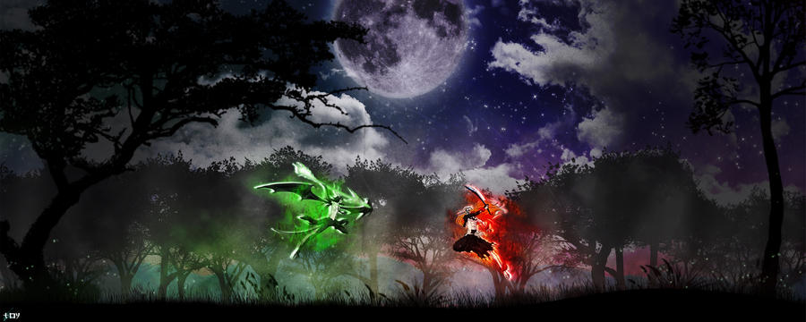 Ulquiora VS Ichigo mk2 by Toyboj