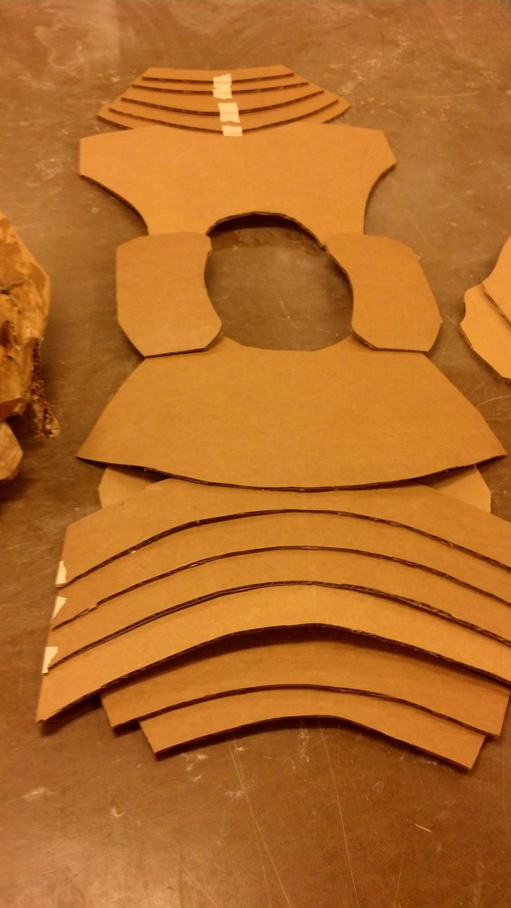Cardboard samurai armor template by w00stersam on deviantart for Cardboard armour template