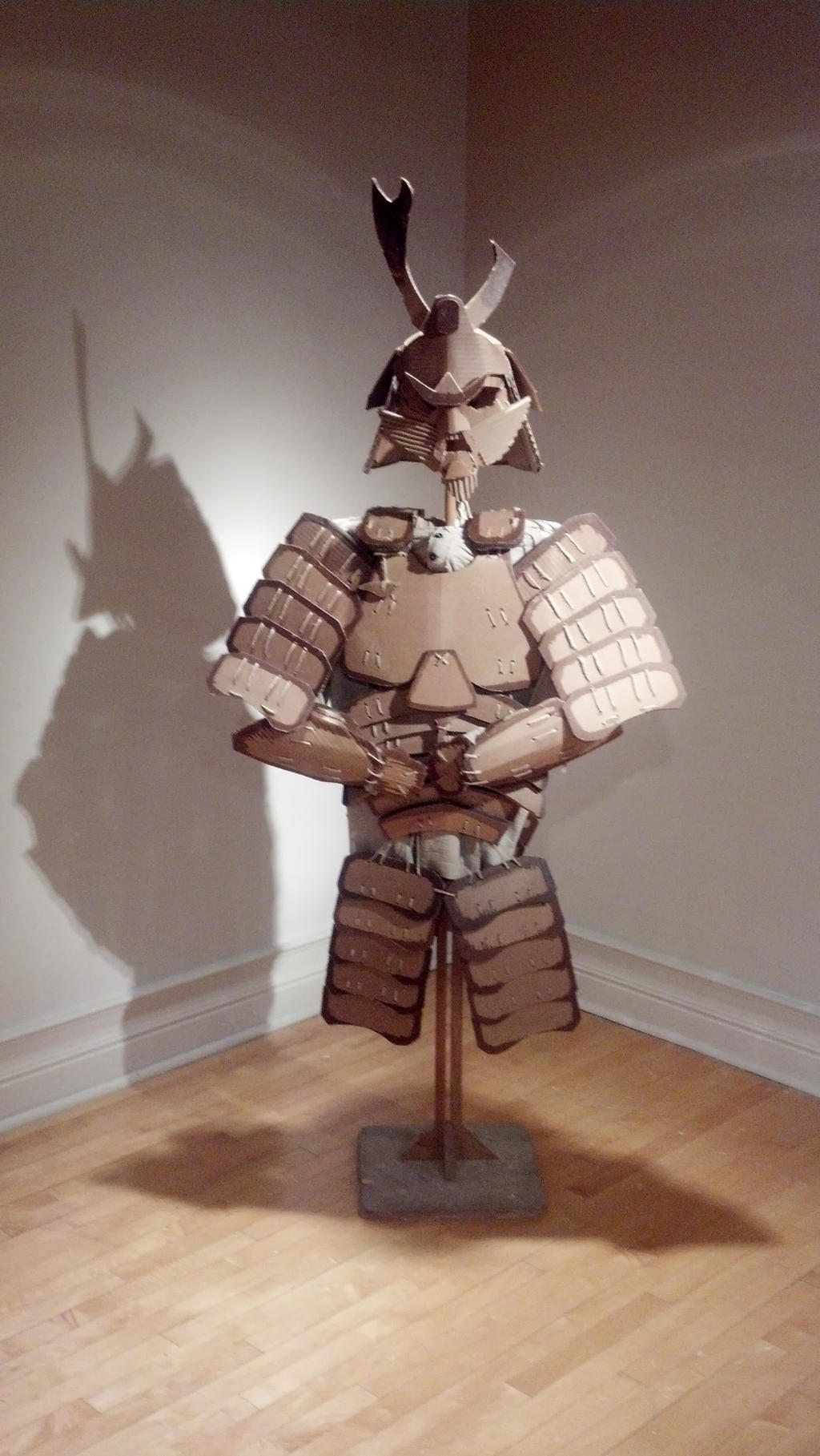 Samurai by w00stersam on deviantart for Cardboard armour template
