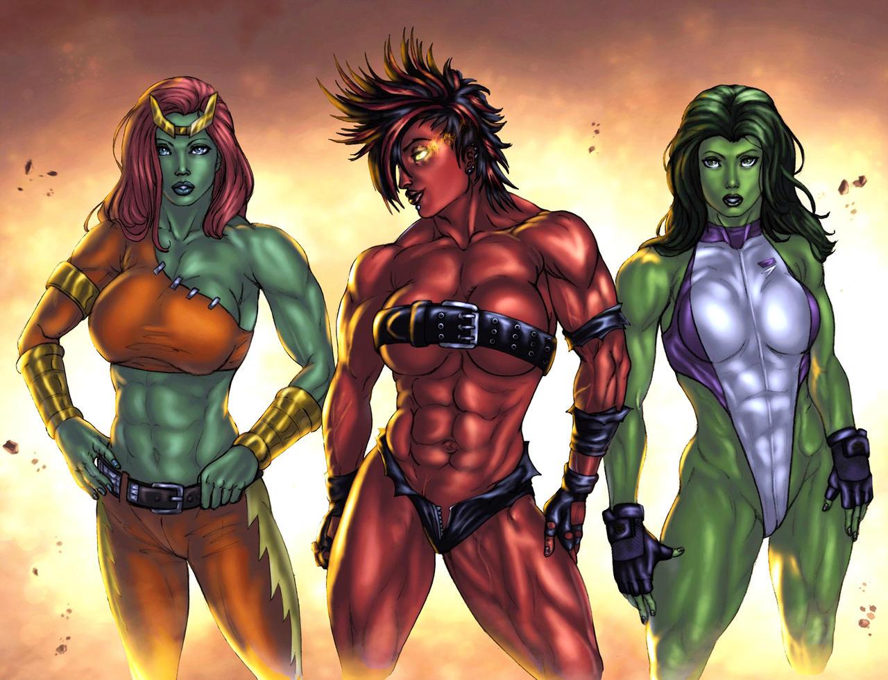 She-Hulk on Muscle Beach by JoeJusko on DeviantArt