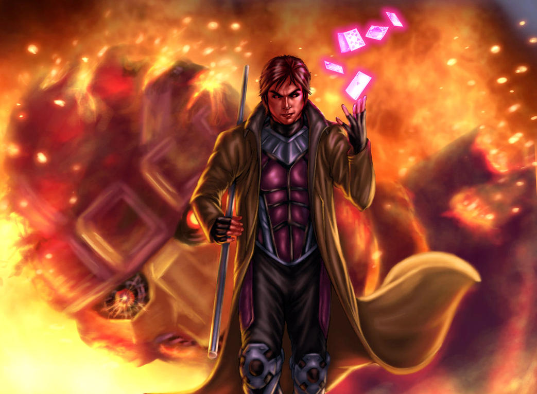 Gambit explosion by vic55b