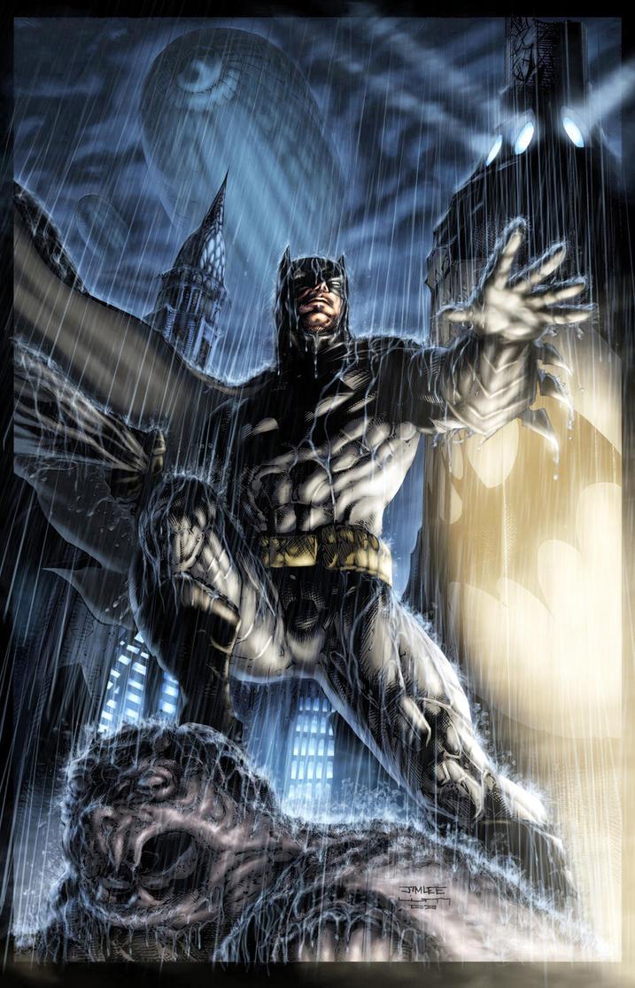Batman Jim Lee battle piece by vic55b