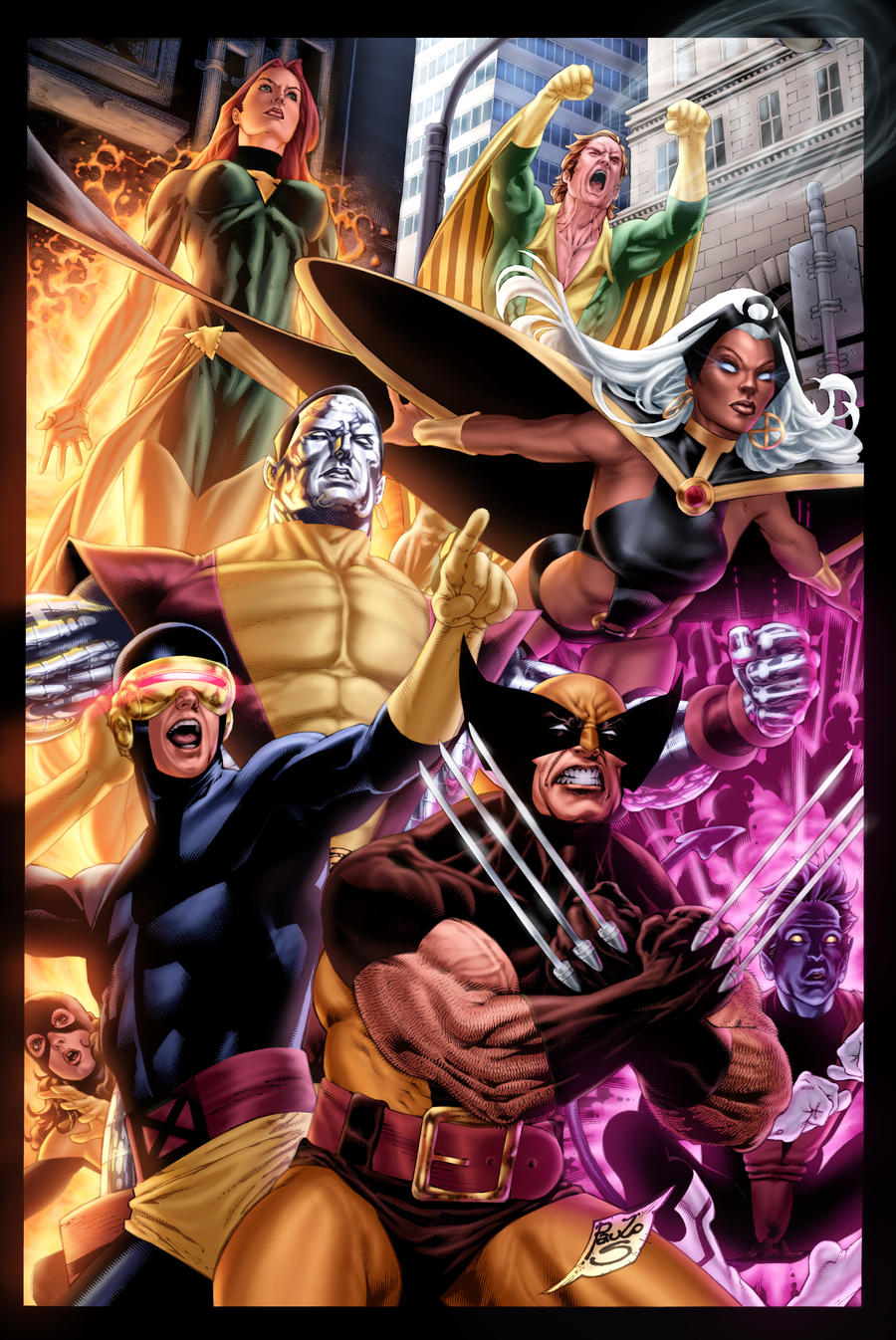classic X-Men battle piece by vic55b