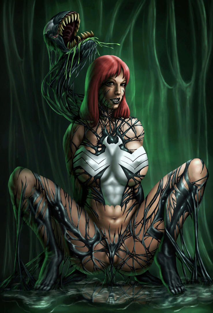 Mary Jane symbiote color by vic55b