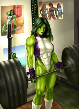 She Hulk commission colors