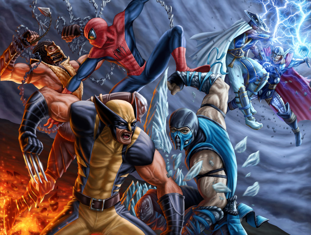 Dreno360 Mortal Kombat VS Avengers by vic55b