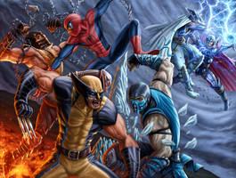 Dreno360 Mortal Kombat VS Avengers by vic55b