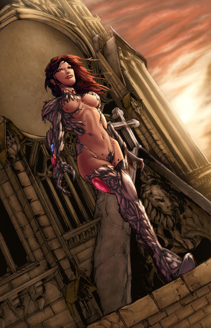Witchblade Harpokrates colored by vic55b