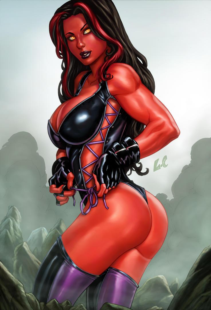 Red She Hulk  Lcfreitas vic55b colors by vic55b