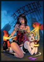 Wonder Woman And Harley Quinn By Leomatos2014 Vic5 by vic55b