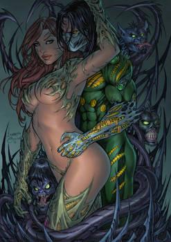 Witchblade And Darkness By Izonetosousa Da8dr1r