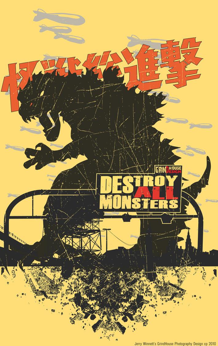 Destroy All Monsters, Godzilla by JerryJclWinnett
