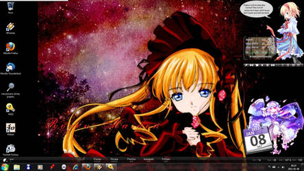 My actual desktop - 8 Jan 2011
