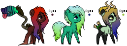 MLP Species adopts - CLOSED by TRASHYADOPTS