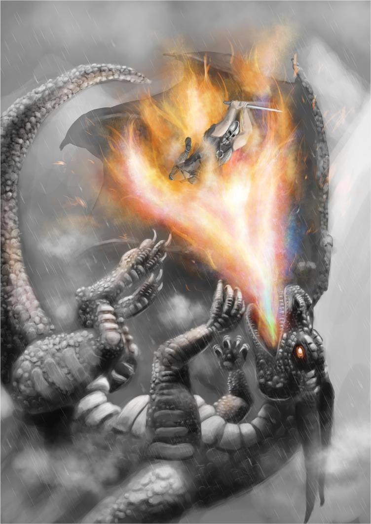Dragon battle, (work in progress) by Alex-Porteous
