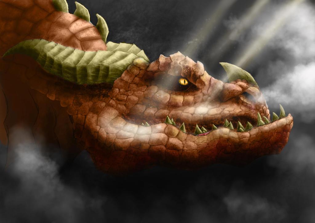 Dragon in progress by Alex-Porteous