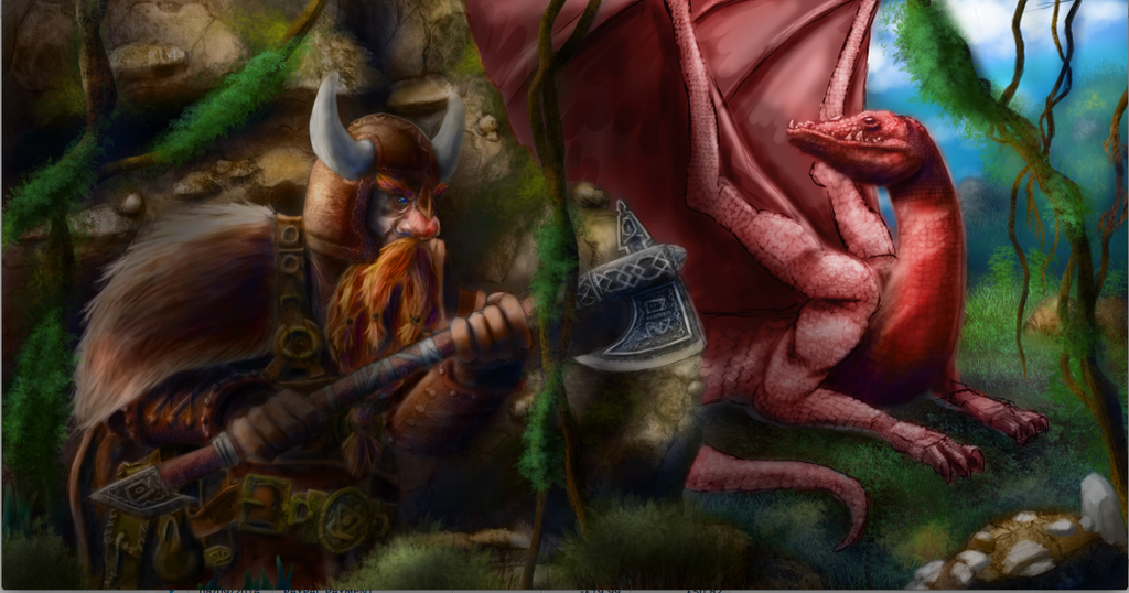 Dwarf Versus Dragon (Work in Progress) by Alex-Porteous