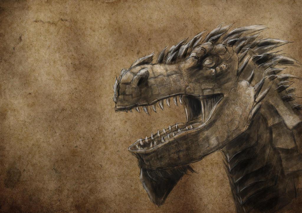 Dragon sketchin by Alex-Porteous