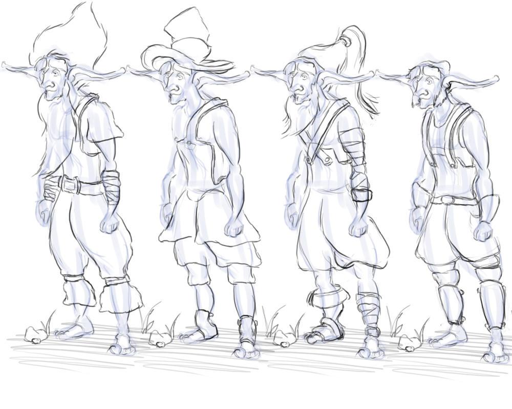 Elf peasant doodles by Alex-Porteous