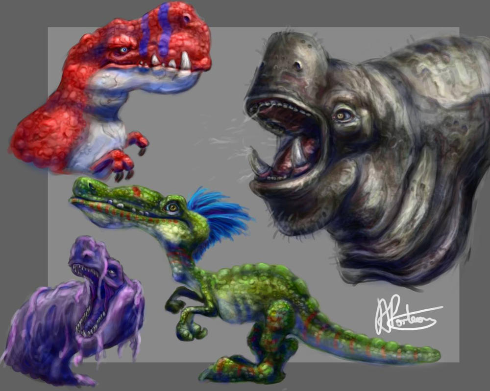 Creature Designs by Alex-Porteous