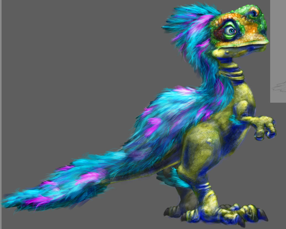 Fluffydino by Alex-Porteous