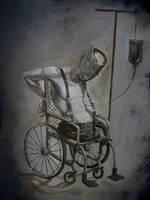 Wheelchair Patient by Mavros-Thanatos