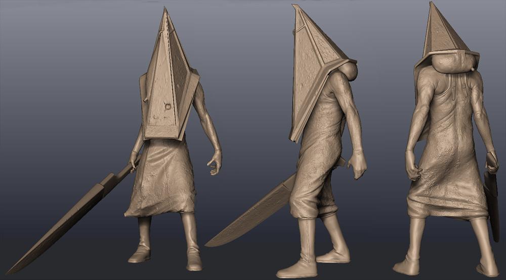 pyramid head silent hill 2 3d model
