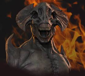 Demon Sculpt Composite by Mavros-Thanatos
