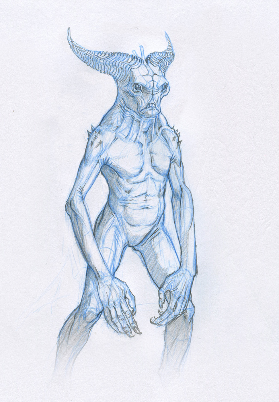 demon sketch by Mavros-Thanatos