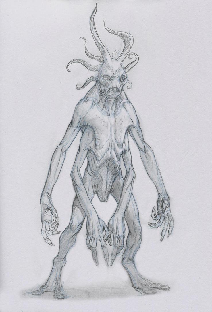 Alien Creature by Mavros-Thanatos