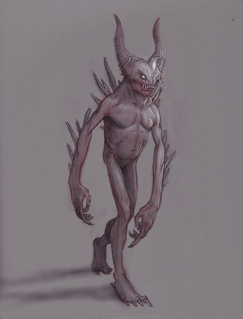 Halo demon sketch by Mavros-Thanatos