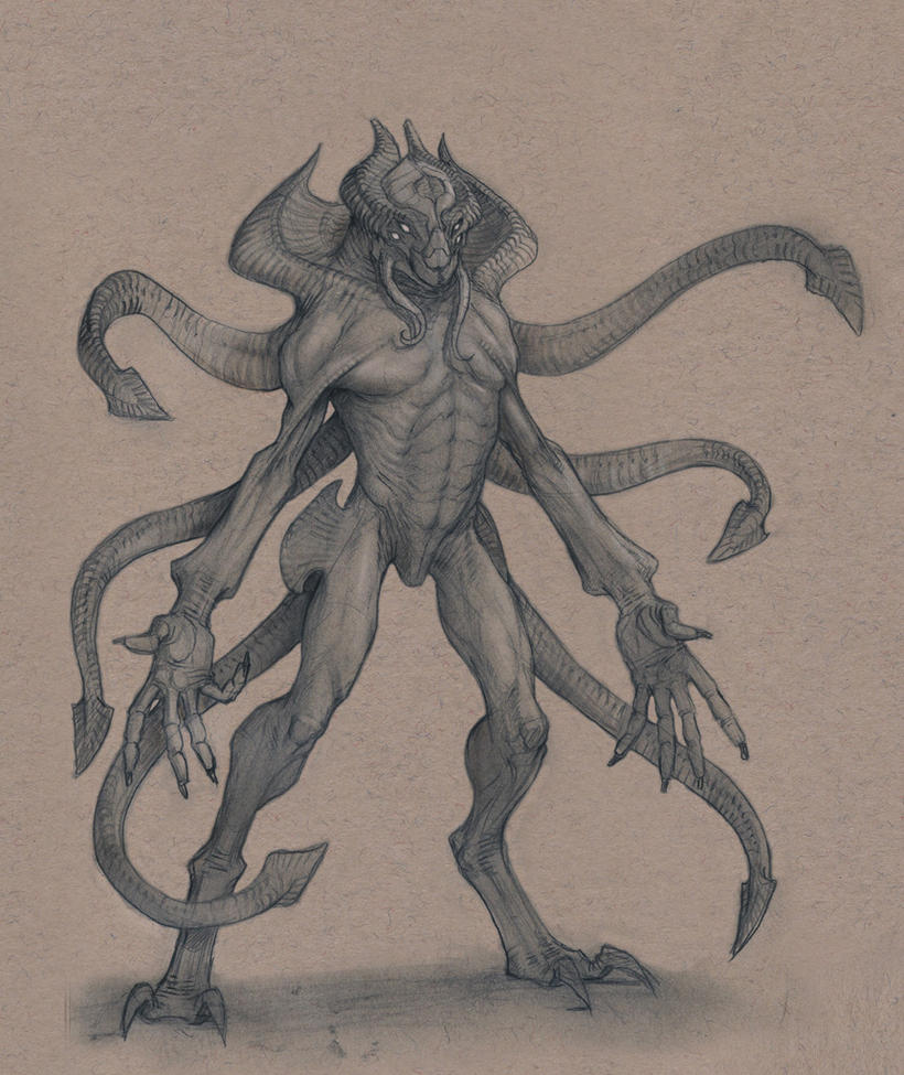 Tentacle Alien by Mavros-Thanatos