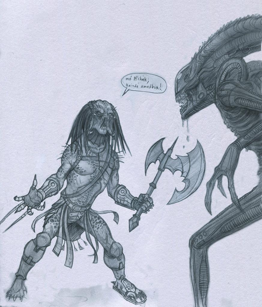 Pred Vs Alien by Mavros-Thanatos