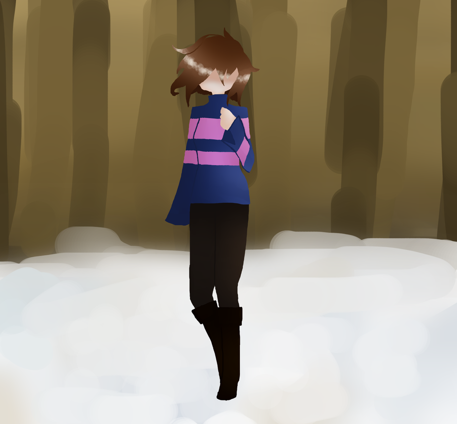 Frisk in Snowdin by ZombieWolfPlays