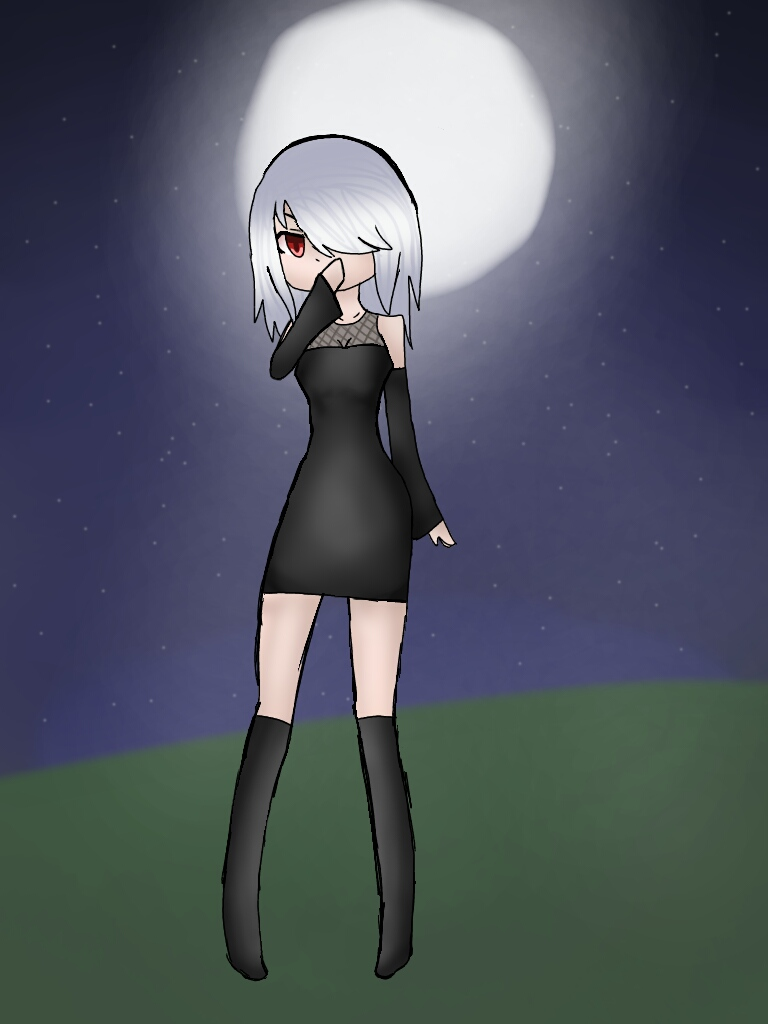 Moon's Vampire Form by ZombieWolfPlays