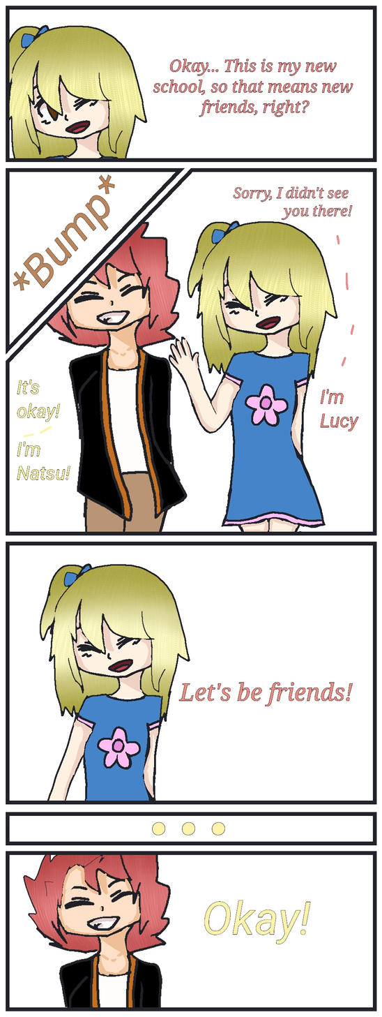 Nalu as Kids Comic by ZombieWolfPlays