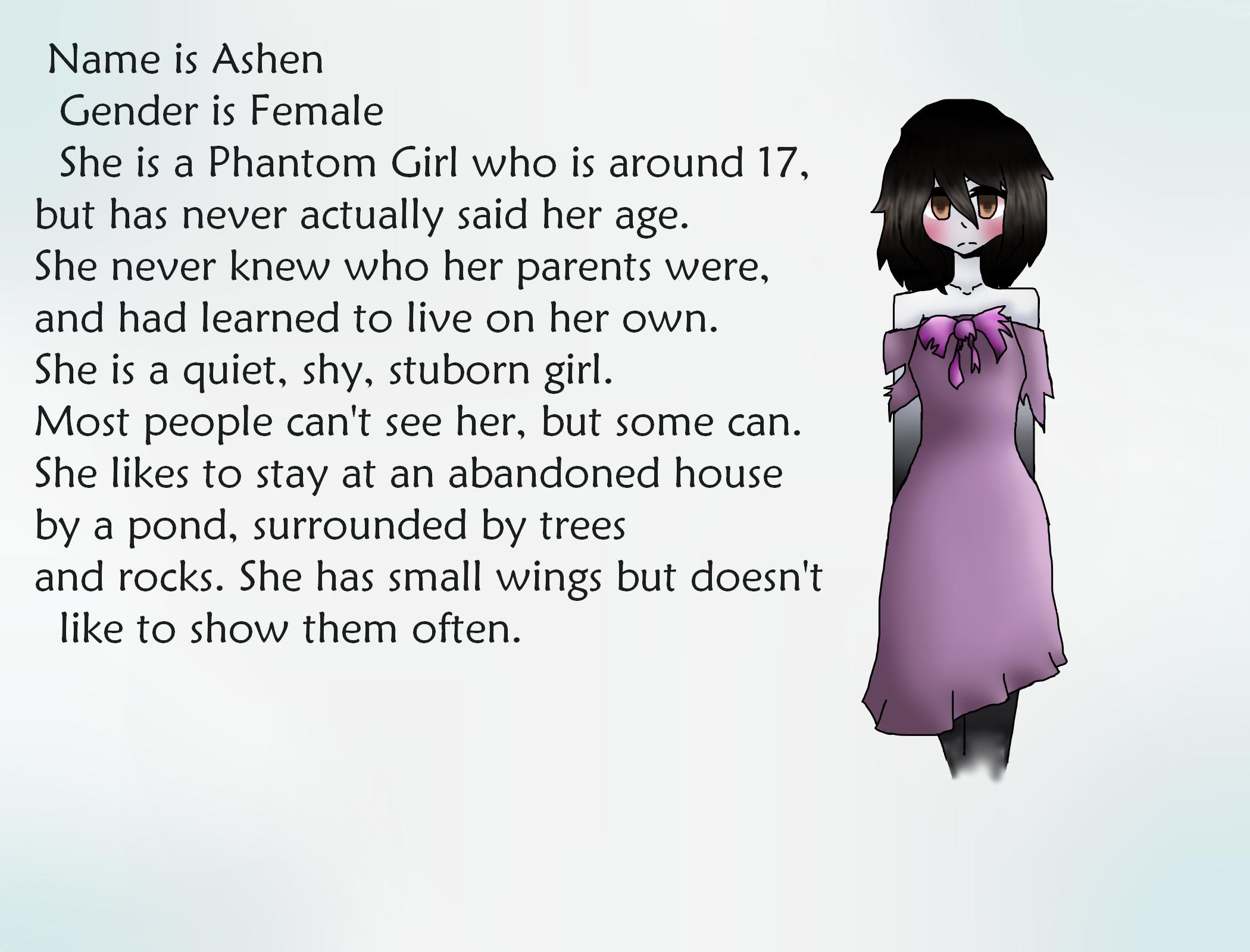 Ashen's Bio by ZombieWolfPlays