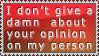 Your opinion about me by RanStamps